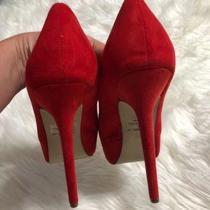 Breckelles Shoes - Breckelle's red suede pumps Sz. 8.5